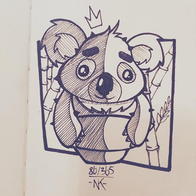 Koalatus Day 86 Of My Daily Cactus Drawing Challenge A C