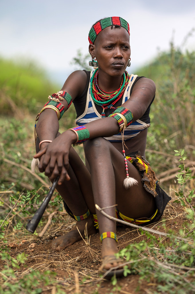 Young Woman From Hamer Tribe Southern Ethiopia High-Res