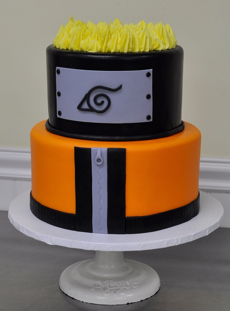 Awe Inspiring Naruto Themed Birthday Cake Cake Based On A Characters Ou Flickr Personalised Birthday Cards Sponlily Jamesorg