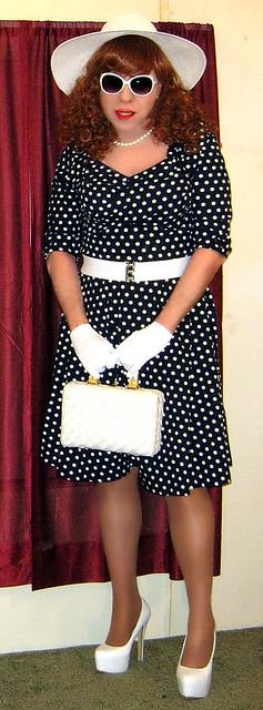 blue polka dot dress 2