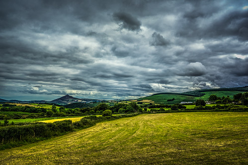 landscape land fields green yellow colour colorful ireland dublin wicklow mountains mountain sky clouds cloudy greenery grass europe sony sonya7 a7 2016 hill grassland field cloud outdoor seren