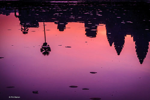 Angkor Wat sunrise reflection | by Phil Marion (176 million views - THANKS)