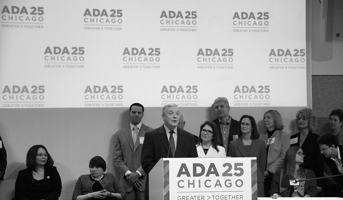 U.S. Senator Dick Durbin, speaking at the ADA 25 Chicago Launch Event: Greater > Together | by danxoneil