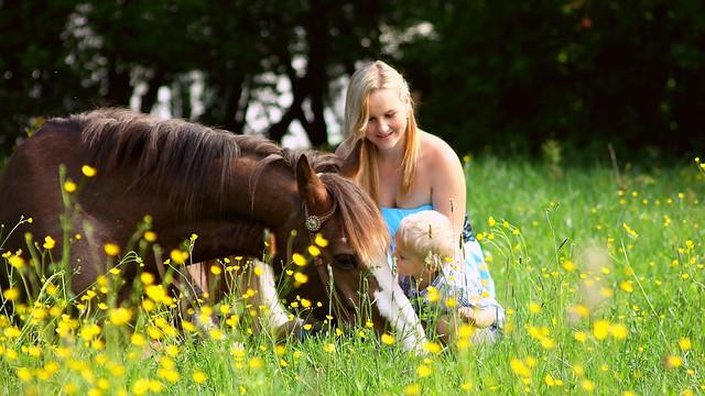Cowboy mit Anna und Alexander