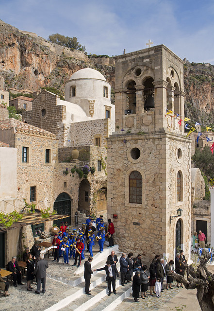 Youth band at Monemvasia town square