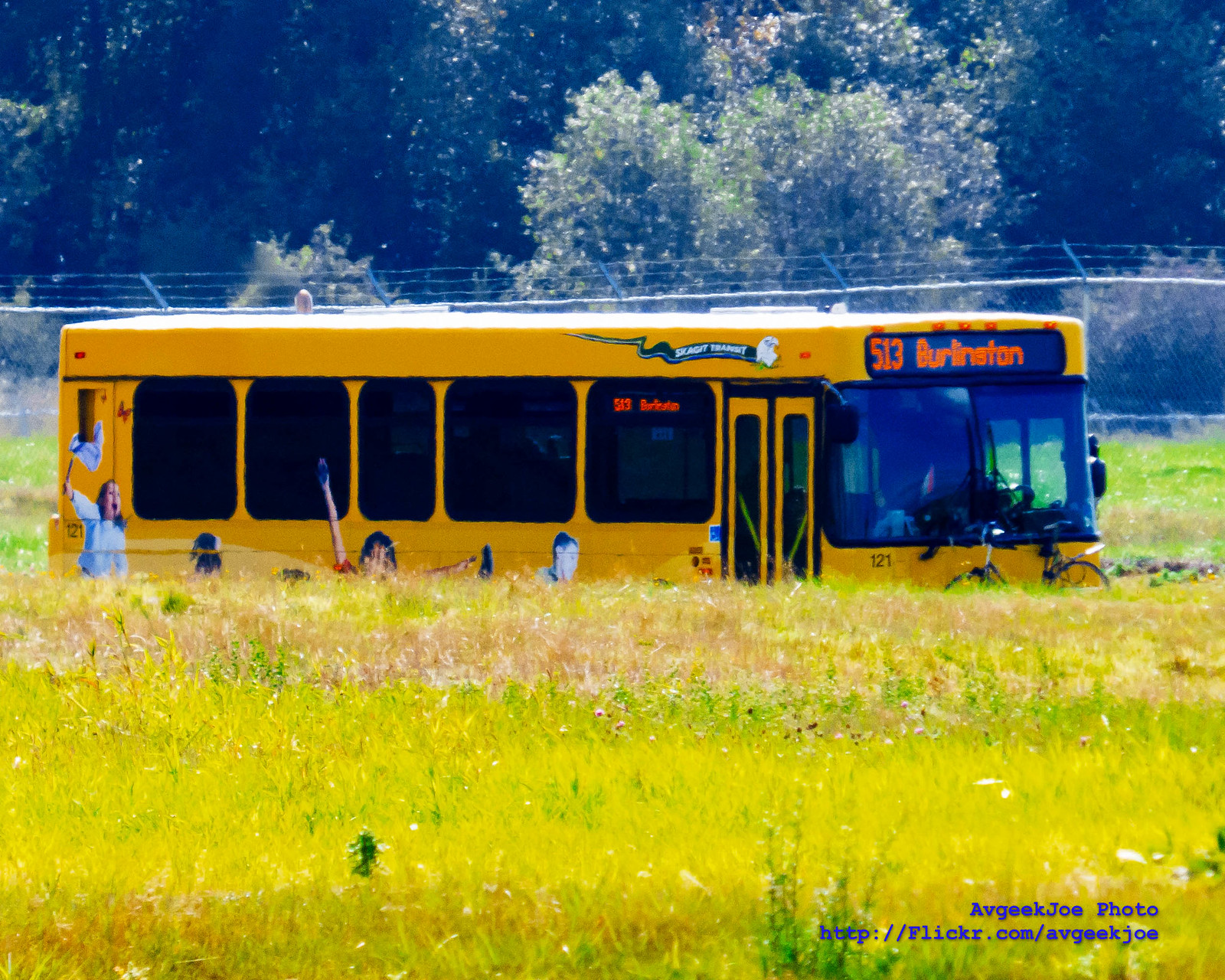 Technicolor of a Skagit Transit Bus