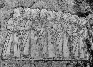 nine sad little girls