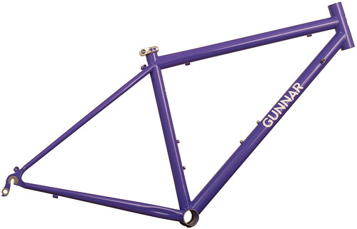 <p>Gunnar Sport in Purple Velvet.  This 50cm size is the smallest stock 700 size with an actual seat tube of only 41.5cm.  The Sport provides a smooth ride for distance oriented cyclists.</p>