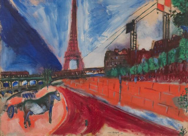 Marc Chagall, Le Pont de Passy et la Tour Eiffel, 1911