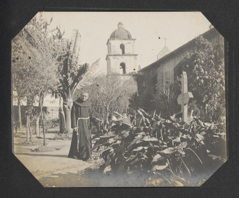 [Courtyard of the Santa Barbara Mission]