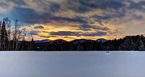Winter Sunset in Stowe, Vermont. | by pickle.monger