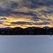 Winter Sunset in Stowe, Vermont.