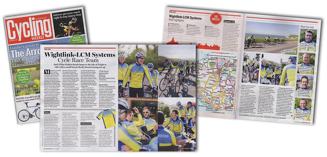 Cycling Weekly magazine feature article on the Wightlink - LCM Systems Cycle Race Team.