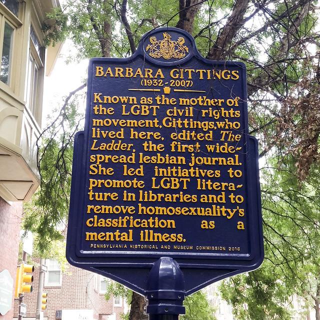 New Historical Marker - Barbara Gittings (1932-2007)