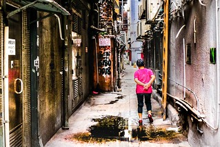 Hong Kong alley..