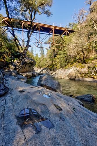 california d7200 hdr nikon sierranevada bridge foothills landscape reflection water winecountry ©bradmaberto campcreek creek