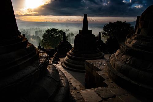 indonesia temple java borobadur asia asian buddhist buddhism sacred mysterious holy mystical