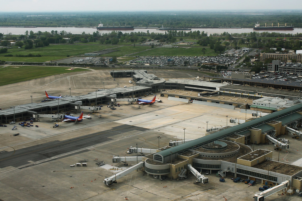 New Orleans Airport - Concourses BC Aerial