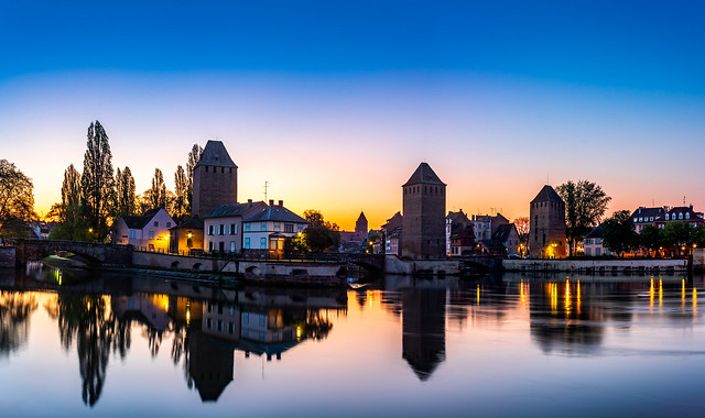 Ponts Couverts at sunrise