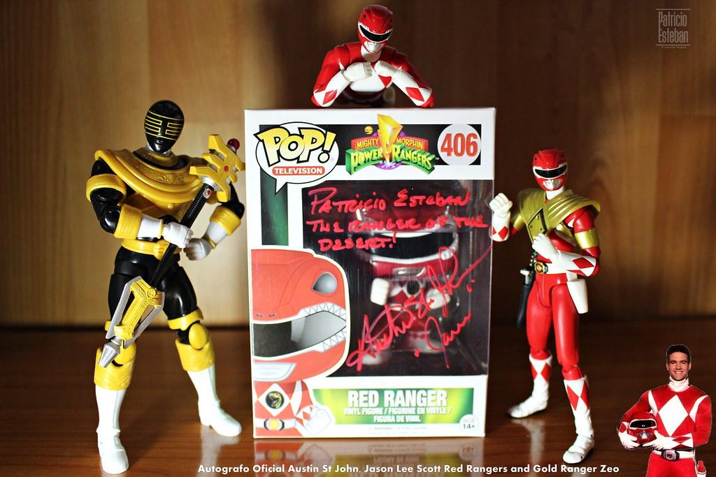 Red Ranger Autografiado Funko Pop Autografiado Por Austin Flickr