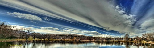 usa colorado lakewood cottonwoodlake skyclouds landscape outdoors