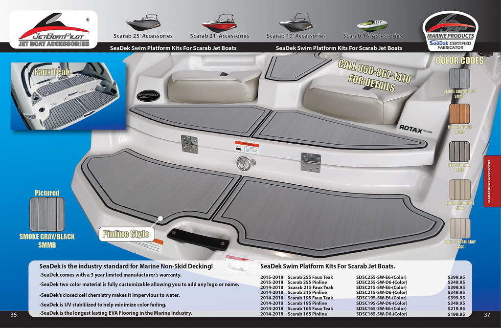 SeaDek Swim Platform Kits For Scarab Jet Boats | Will Owen