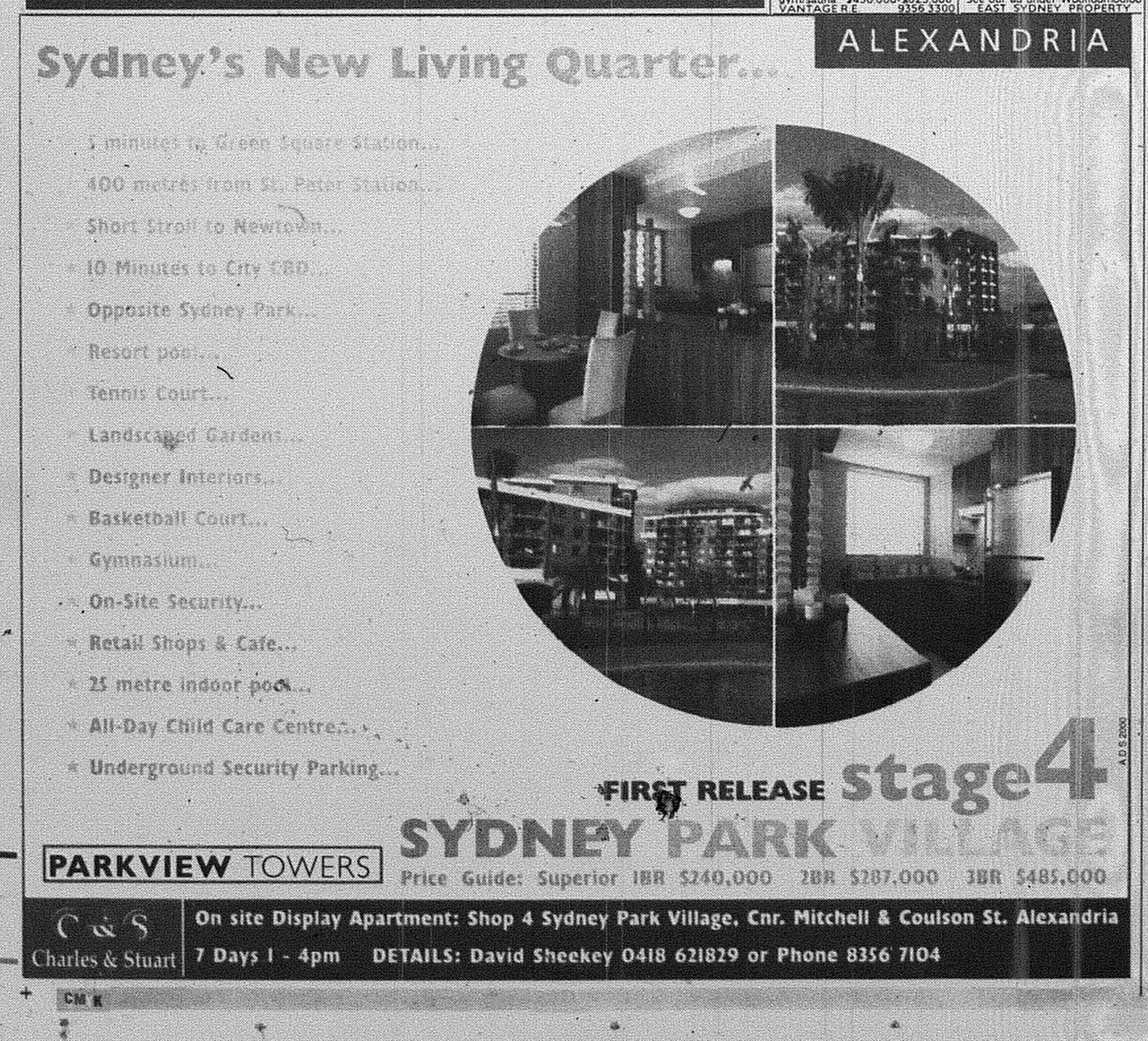 Sydney Park apartments ad september 25 1999 smh 23RE