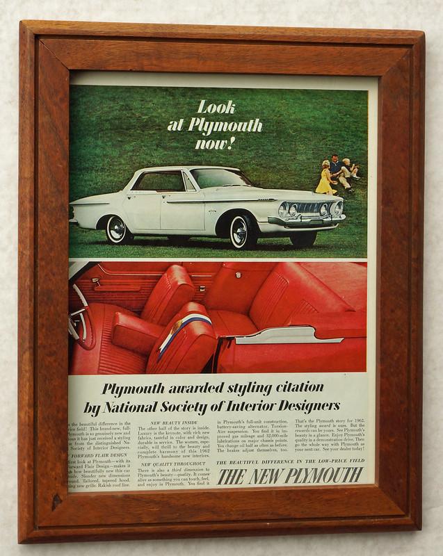 CM036 1961 Plymouth Car Ad Framed DSC04434