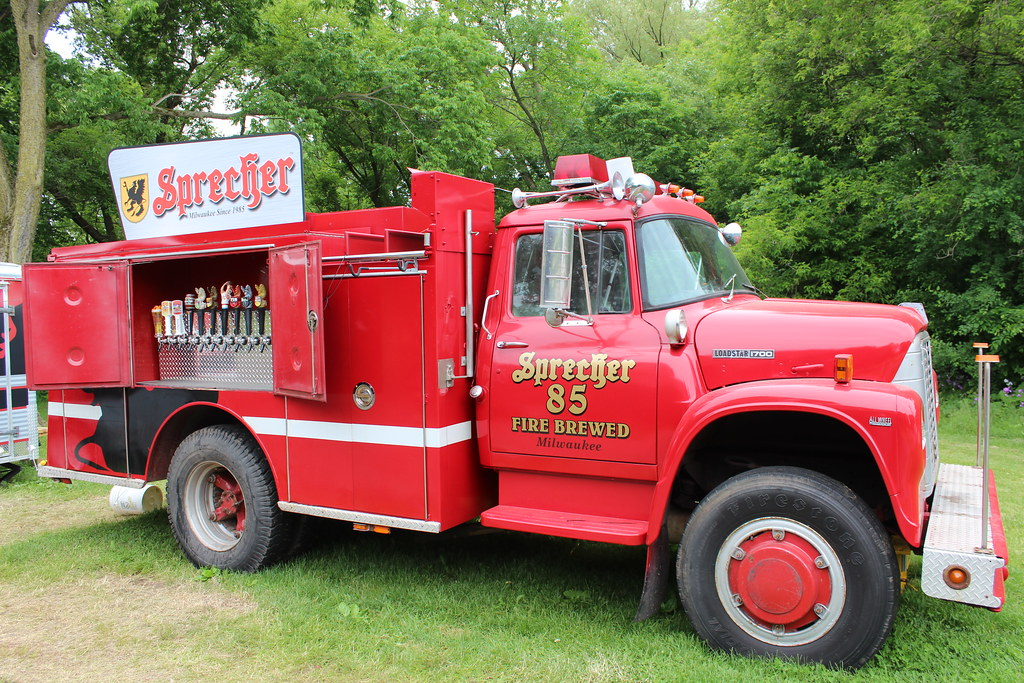 The Traveling Beer Garden Firetruck Operated By Milwaukee Flickr