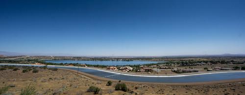 sky lake canal horizon aqueduct kanal windrad horizont endless californien