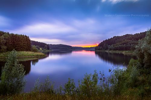 landschaft ndfilter longtimeexposure sunset landscape langzeitbelichtung sky water reflection formatthitech dhünntalsperre