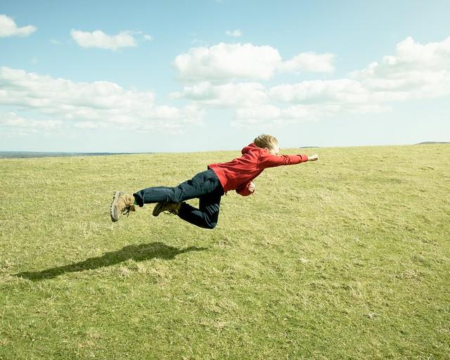 Ned flying.