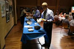 Erik Grunwald at the new lunch buffet.