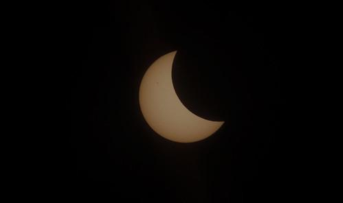 sunspot on the solar eclipse
