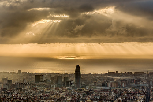 sunrise lights bcn amanecer carmel panoramicasbcn landscapebcn