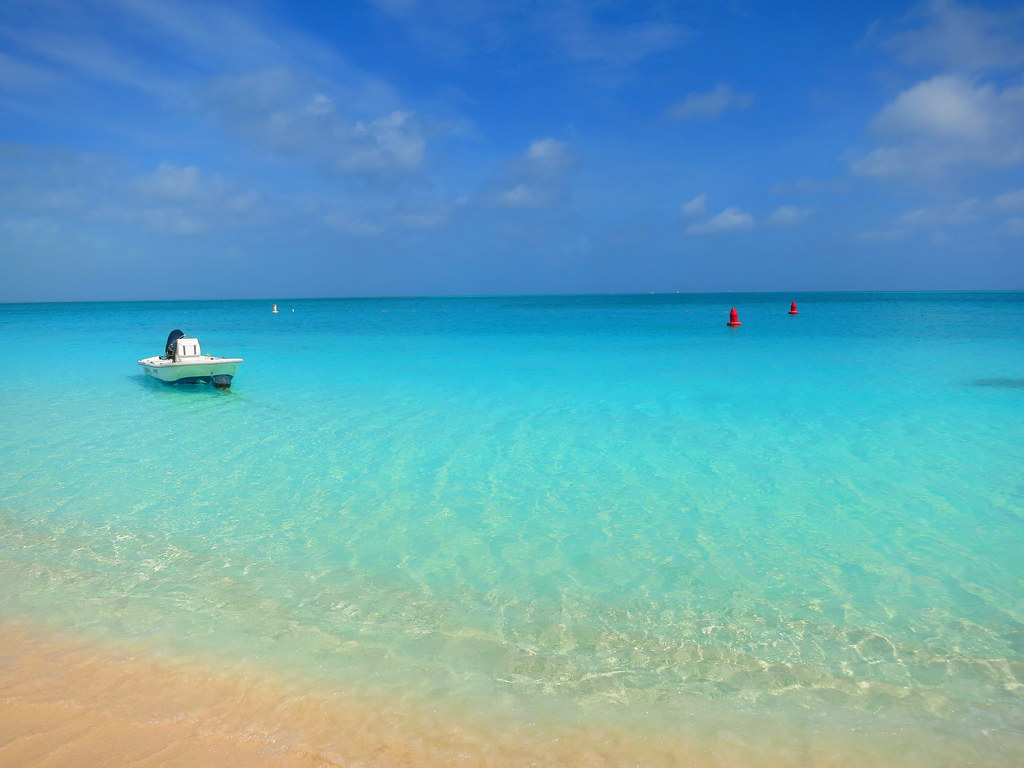 Turks and Caicos Grace Bay Beach Boat | Image is free to use… | Flickr