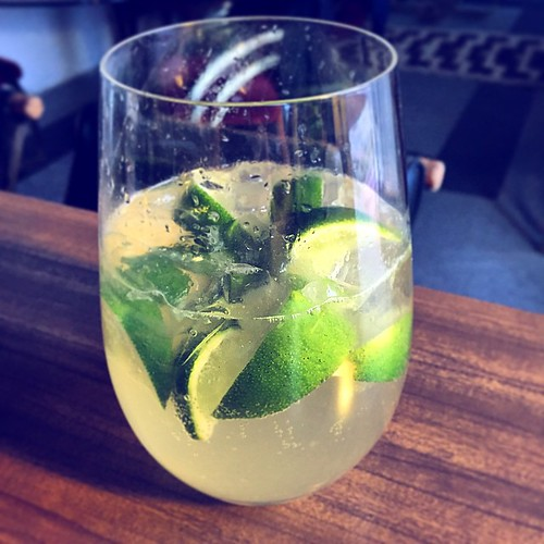 Mexican mule: tequila, ginger ale & lots of lime. Lethal. | by heymrleej
