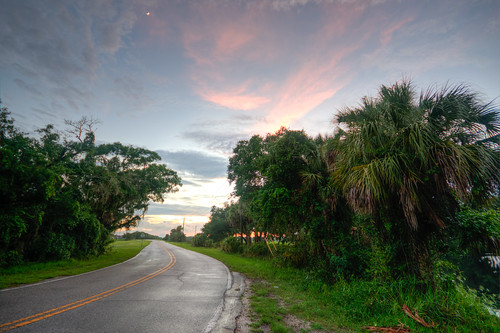 florida fla fl sunset country road countryroad rain rainy manatee county manateecounty parrish unitedstates