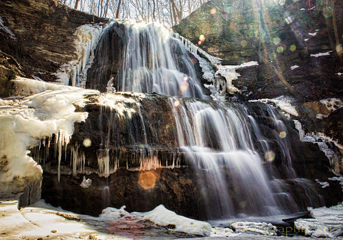 longexposure bridge snow cold ice nature wet water spring high force falls waterfalls tall slippery escarpment ancaster ndfilter shermanfalls ancasteron