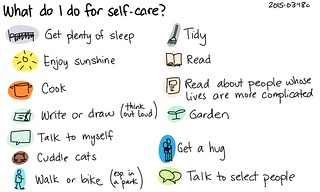 2015-03-18c What do I do for self-care -- index card #self-care #happiness #comfort | by sachac