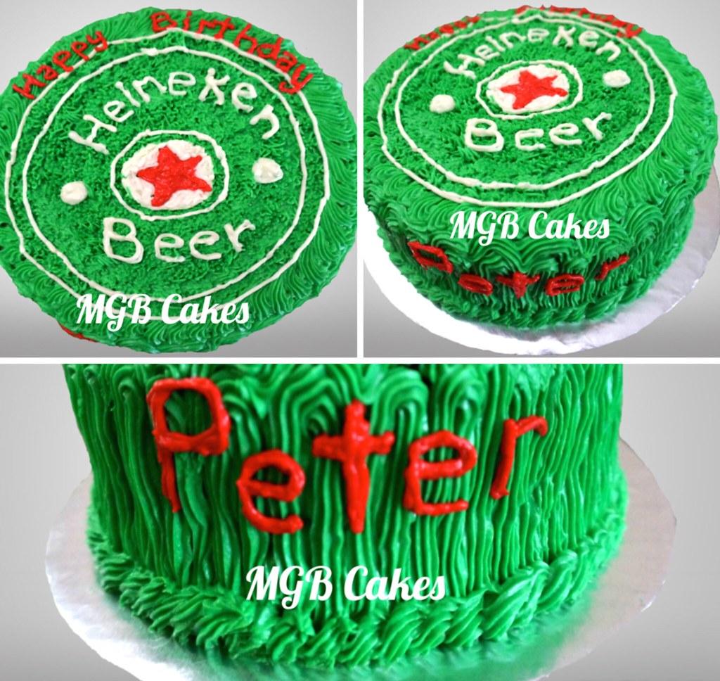 Outstanding Heineken Beer Cake Another Heineken Fan I Love The Design Flickr Funny Birthday Cards Online Overcheapnameinfo