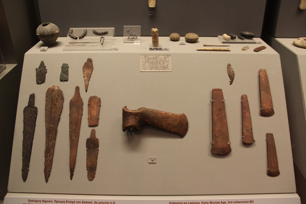 Ancient Greece Early Bronze Age Bronze Weapons & Tools, 3rd Mill. BC