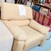 Yellow fabric armchair