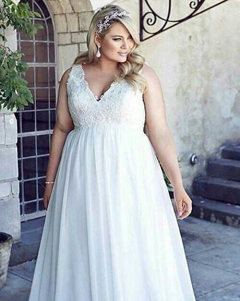 Plus size #wedding gowns like this can be totally #custom ...