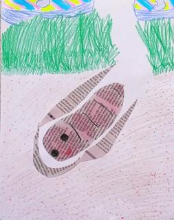 Harriet's worm collage.
