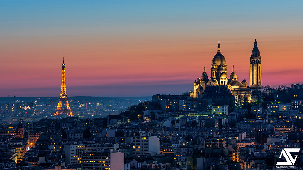 Paris Where Was This Taken Comp Of Eiffel Tower And Sacre