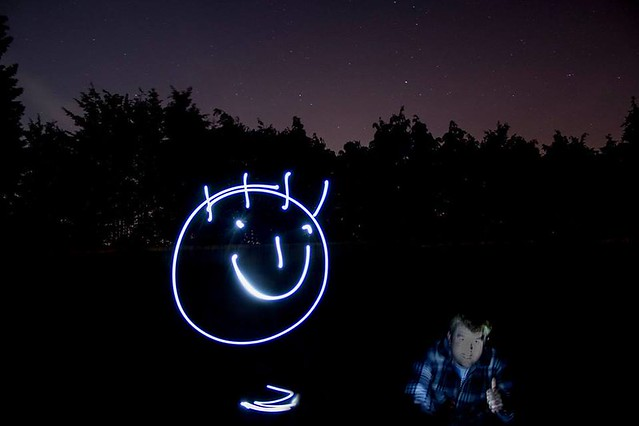 Smiley Face Light Painting