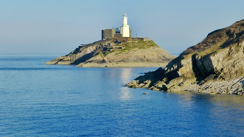 lighthouse seascape swansea landscape coast rocks mumbles