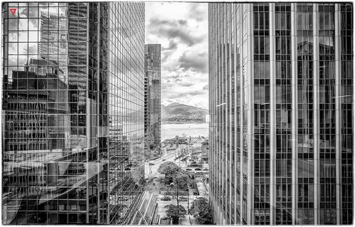 new city blackandwhite bw cloud mountain west reflection building glass lines architecture modern night vancouver clouds skyscraper buildings reflections design hall vanishingpoint blackwhite high alley nikon downtown cityscape view skyscrapers noiretblanc britishcolumbia clarity structure nb clean clear business architect western reflective tall elevated radiohead elevation vanishing westcoast vignette citycentre structural businesses skyrise resident hight amnesiac westcanada westpender vancouverstreets nikond600
