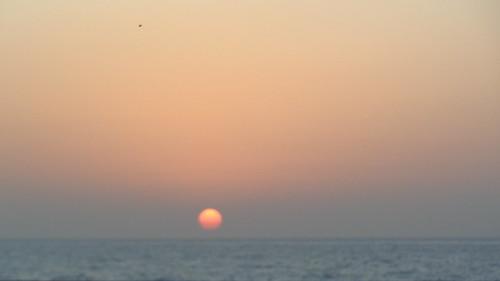 asia india bombay mumbai sunset sun sky water sea ocean coast indiansunset exas